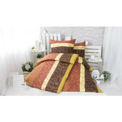 XPOSE ® BAVLNĚNÉ POVLEČENÍ na 2 postele - Eva hnědá 140x200/70x90cm
