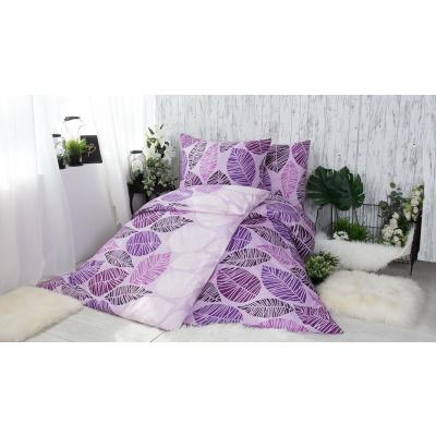 XPOSE ® BAVLNĚNÉ POVLEČENÍ na 2 postele - Valérie fialová 140x200/70x90cm