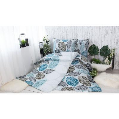 XPOSE® Bavlněné povlečení na 2 postele Valérie šedá, 140x200/70x90cm