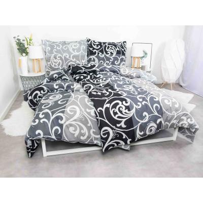 XPOSE® Bavlněné povlečení na 2 postele MELISA černá, 140x200/70x90cm