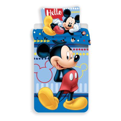 Jerry Fabrics DĚSKÉ BAVLNĚNÉ POVLEČENÍ - Mickey 004 Hello 140x200/70x90cm
